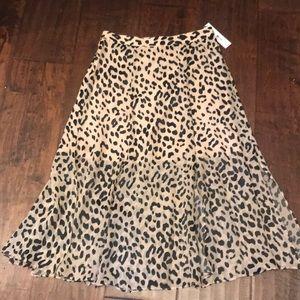 Alice + Olivia leopard skirt size 6